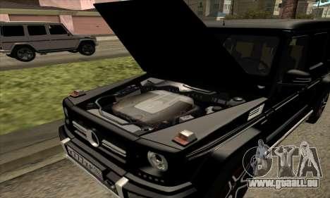 Mercedes G63 Biturbo für GTA San Andreas obere Ansicht