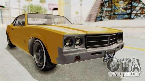 GTA 5 Declasse Sabre GT2 A IVF pour GTA San Andreas vue de droite