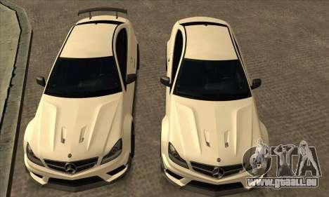 Mercedes-Benz C63 AMG Black-series für GTA San Andreas Seitenansicht