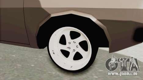 Renault 12 für GTA San Andreas Rückansicht