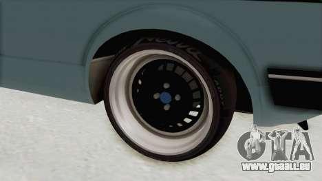 Volkswagen Golf 1 Cabrio VR6 für GTA San Andreas Rückansicht