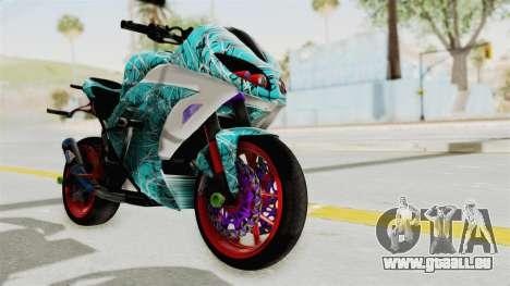 Kawasaki Ninja 250FI Stunter pour GTA San Andreas vue de droite