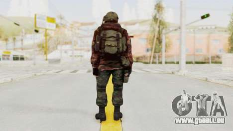 Battery Online Russian Soldier 9 v1 pour GTA San Andreas troisième écran
