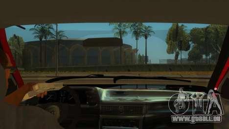 Daewoo Racer GTI pour GTA San Andreas vue intérieure