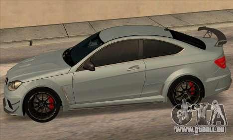 Mercedes-Benz C63 AMG Black-series für GTA San Andreas rechten Ansicht