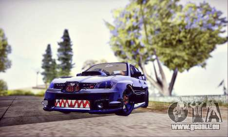 Subaru Impreza WRX STI Dark Knight pour GTA San Andreas