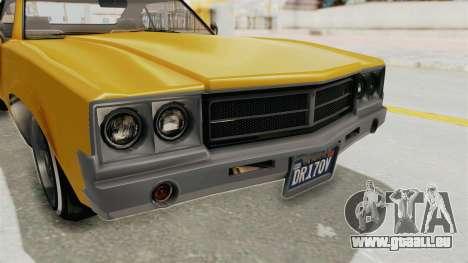 GTA 5 Declasse Sabre GT2 A IVF pour GTA San Andreas vue de côté