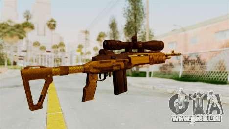 M14EBR Gold für GTA San Andreas zweiten Screenshot