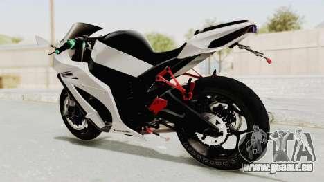 Kawasaki Ninja ZX-10R Modification für GTA San Andreas zurück linke Ansicht