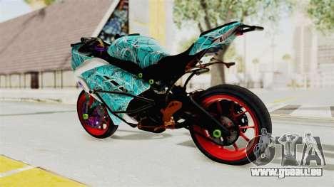 Kawasaki Ninja 250FI Stunter pour GTA San Andreas laissé vue
