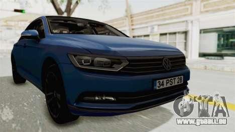 Volkswagen Passat B8 2016 Highline IVF für GTA San Andreas