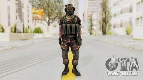 Battery Online Russian Soldier 4 pour GTA San Andreas deuxième écran