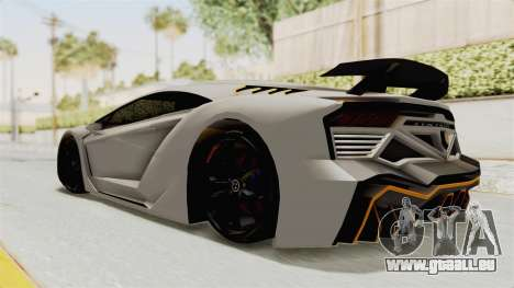 GTA 5 Pegassi Zentorno PJ pour GTA San Andreas sur la vue arrière gauche