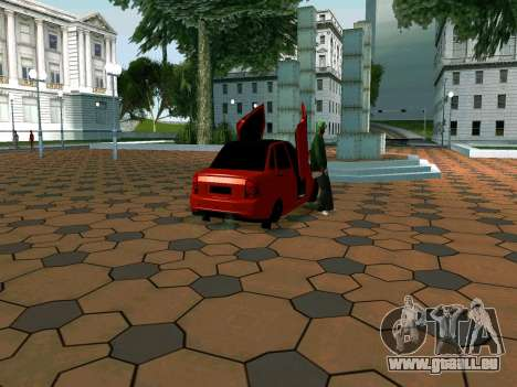 Lada Priora Lambo pour GTA San Andreas sur la vue arrière gauche