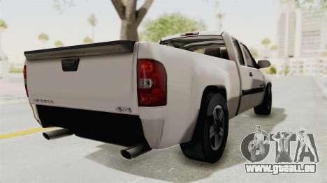 GMC Sierra 2010 pour GTA San Andreas sur la vue arrière gauche