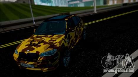 BMW X5M ( Davidich ) pour GTA San Andreas vue intérieure