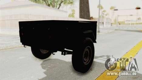GAZ-704 Remorque pour GTA San Andreas laissé vue