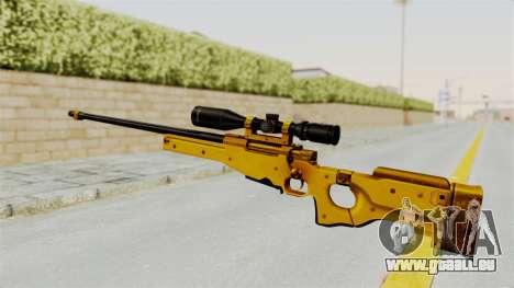 L96A1 Gold pour GTA San Andreas deuxième écran