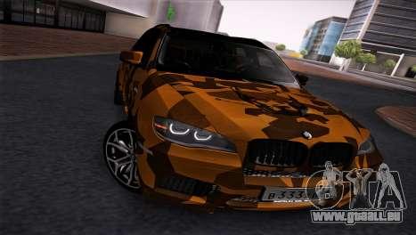 BMW X5M ( Davidich ) pour GTA San Andreas laissé vue