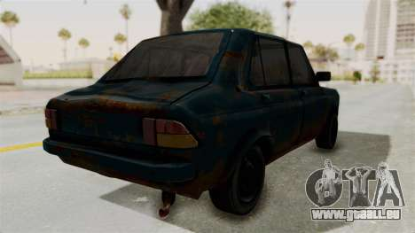 Zastava 1100 Rusty für GTA San Andreas zurück linke Ansicht