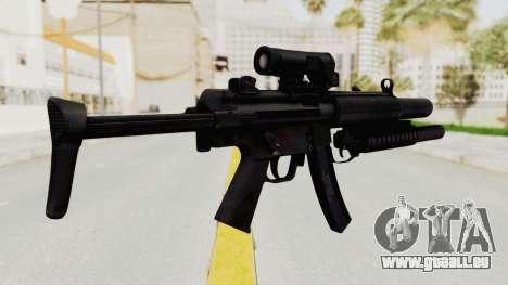 MP5SD with Grenade Launcher pour GTA San Andreas deuxième écran