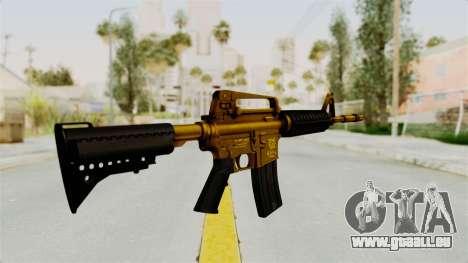 M4A1 Gold pour GTA San Andreas deuxième écran