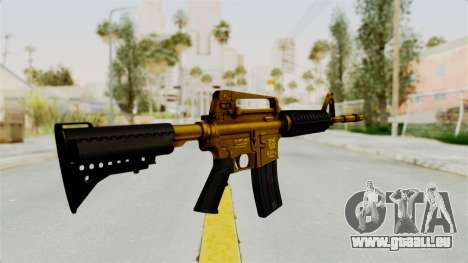 M4A1 Gold für GTA San Andreas zweiten Screenshot