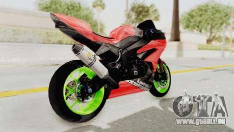 Kawasaki Ninja ZX-6R Boy from Anak Jalanan pour GTA San Andreas vue de droite