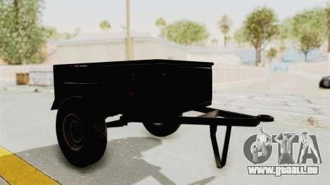 GAZ-704-Trailer für GTA San Andreas zurück linke Ansicht