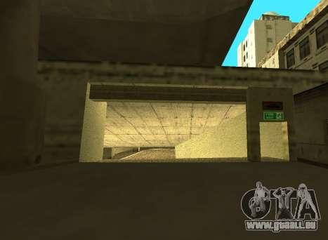 LSPD New Garage pour GTA San Andreas deuxième écran