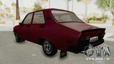 Dacia 1310 TX Realistica pour GTA San Andreas sur la vue arrière gauche