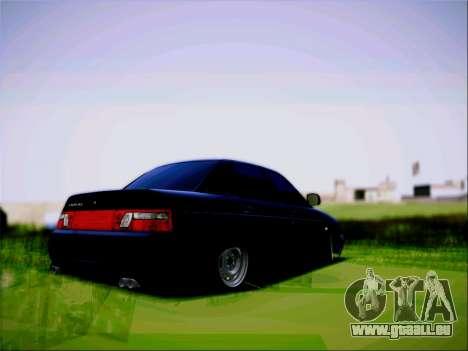 VAZ 2110 Agressif pour GTA San Andreas laissé vue