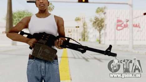 PKM 7.62mm Battlezone Mod pour GTA San Andreas troisième écran