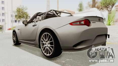 Mazda MX-5 Cup 2015 v2.0 pour GTA San Andreas laissé vue