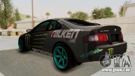 Toyota Celica GT Drift Monster Energy Falken für GTA San Andreas zurück linke Ansicht