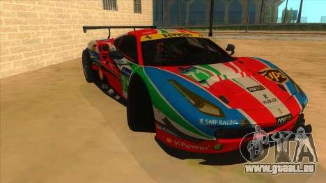 2016 Ferrari 488 GTE pour GTA San Andreas vue arrière