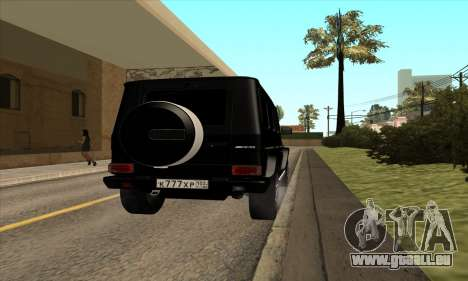 Mercedes G63 Biturbo für GTA San Andreas rechten Ansicht