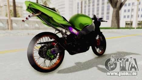 Kawasaki Ninja ZX-9R Drag pour GTA San Andreas laissé vue