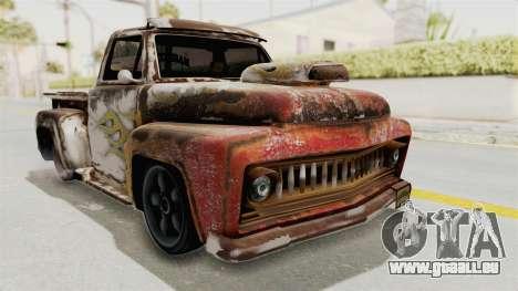 GTA 5 Slamvan Lowrider PJ2 für GTA San Andreas Rückansicht