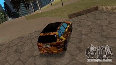 BMW X5M ( Davidich ) pour GTA San Andreas vue de droite