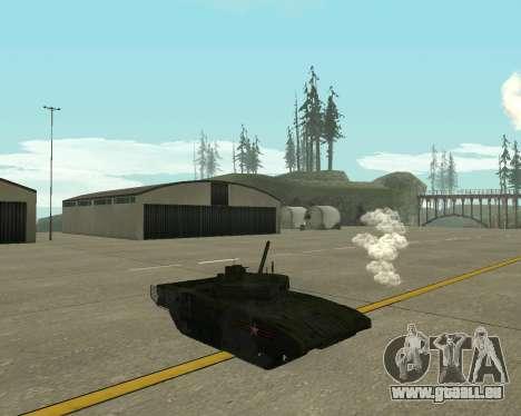 T-14 Armata für GTA San Andreas Rückansicht