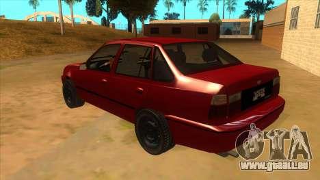Daewoo Racer GTI pour GTA San Andreas sur la vue arrière gauche