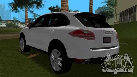 Porsche Cayenne 2012 für GTA Vice City Rückansicht