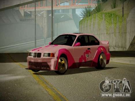 BMW M3 E36 Pinkie Pie pour GTA San Andreas