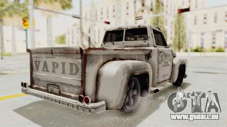 GTA 5 Slamvan Lowrider PJ2 pour GTA San Andreas vue de droite