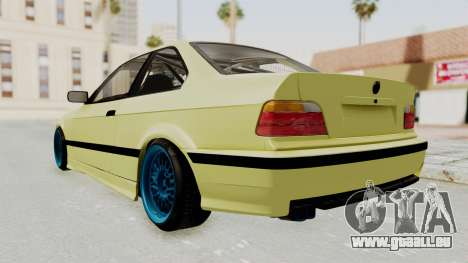 BMW M3 E36 Drift für GTA San Andreas zurück linke Ansicht