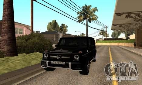 Mercedes G63 Biturbo für GTA San Andreas linke Ansicht