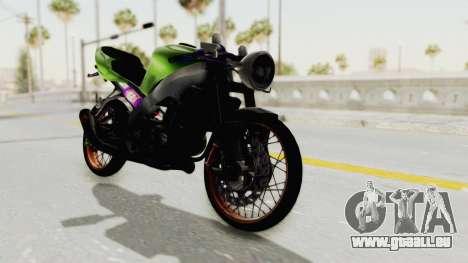 Kawasaki Ninja ZX-9R Drag pour GTA San Andreas sur la vue arrière gauche