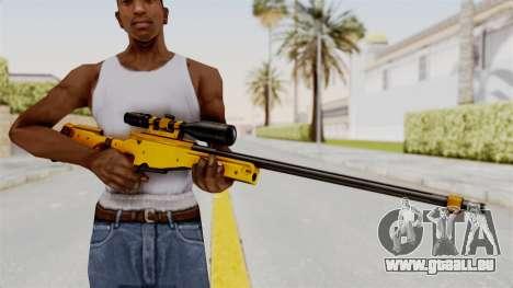 L96A1 Gold pour GTA San Andreas troisième écran
