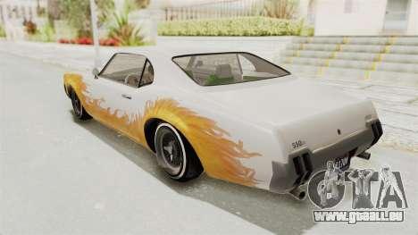 GTA 5 Declasse Sabre GT2 für GTA San Andreas obere Ansicht